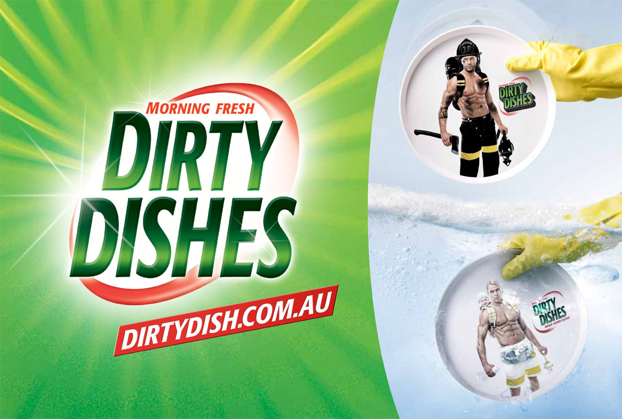 Outdoor Ad Morning Fresh Dirty Dishes
