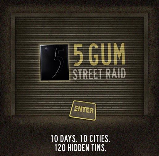 5 Gum Advertisement 5 Gum Interactive ad 5 Gum