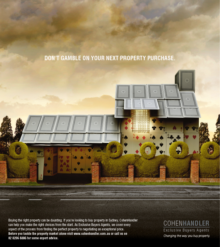 Print ad cohen handler house of cards for Ad house