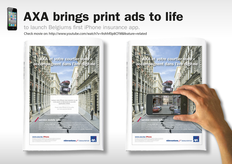 Print Ad Axa Brings Print Ads To Life