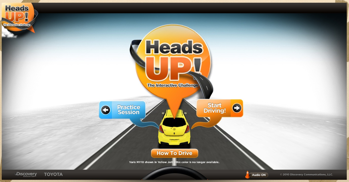 Interactive ad: Toyota and Discovery Education: Heads Up!