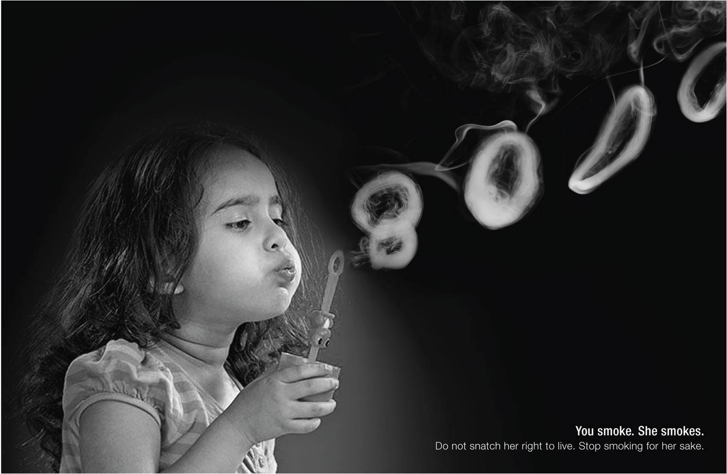 Print Ad Bhavesh Doshi Anti Smoking Smoke Rings