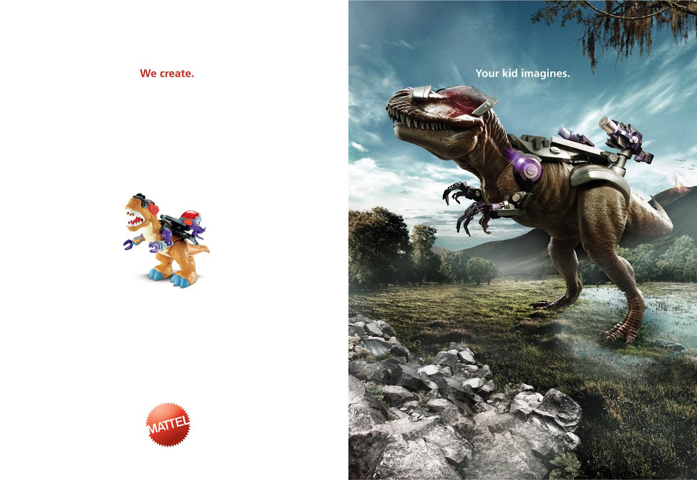 Print Ad Mattel Dinosaur