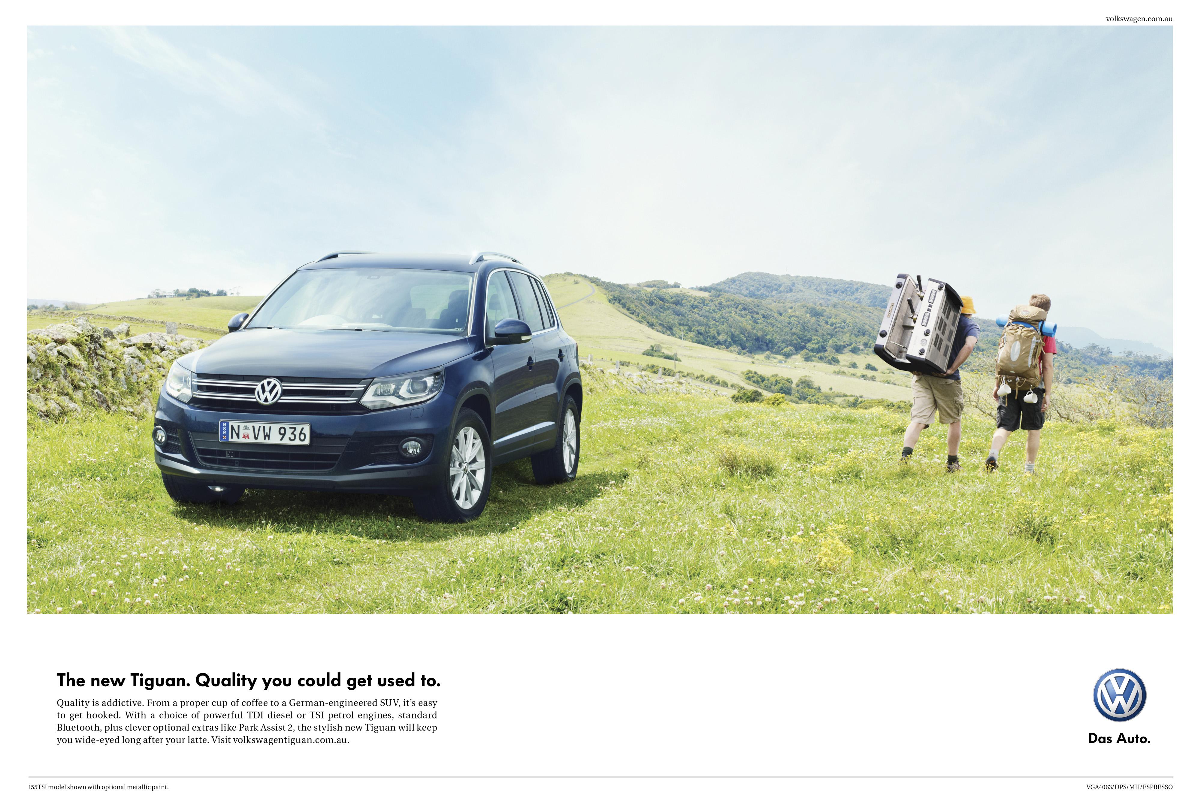Print Ad Volkswagen Tiguan Espresso