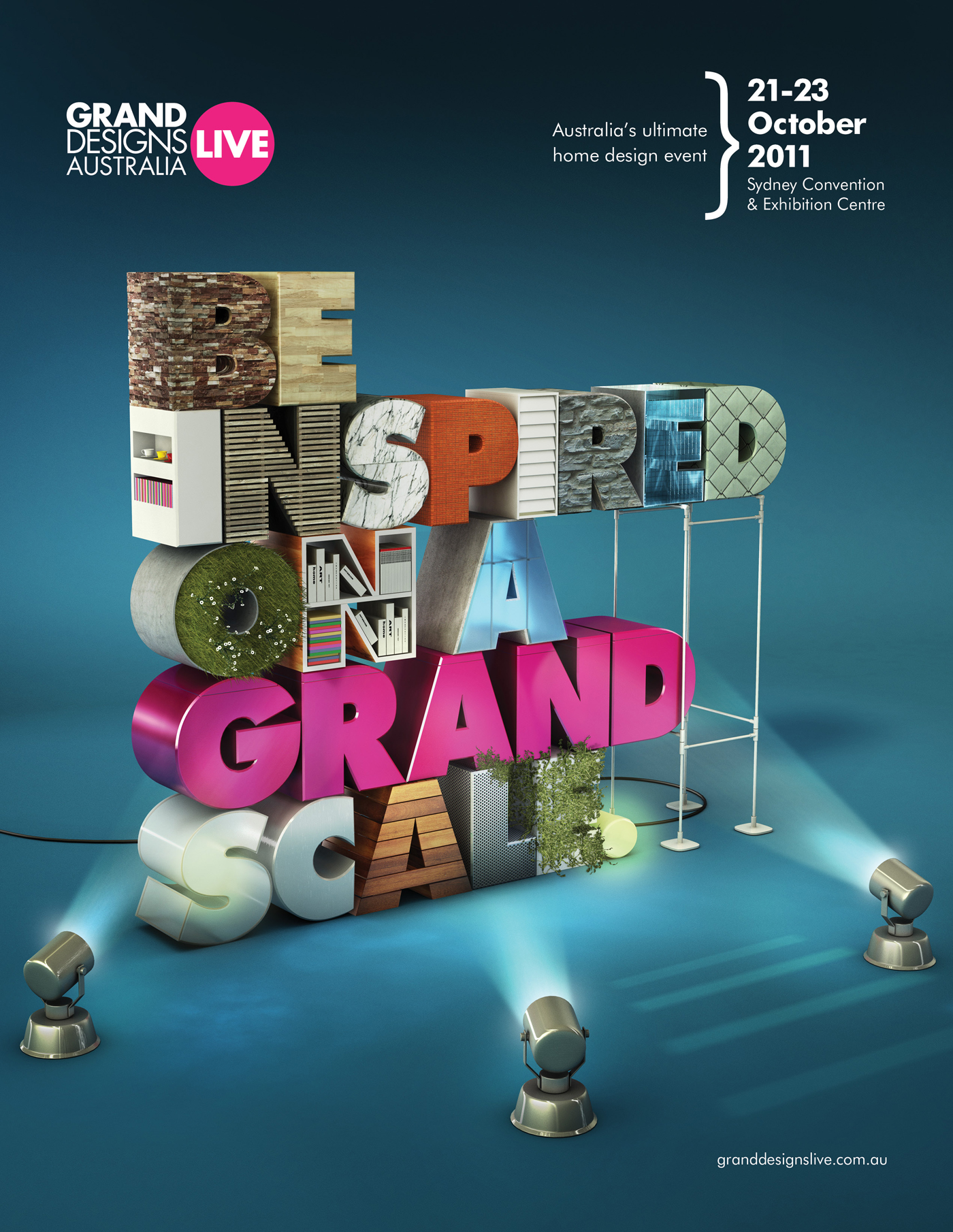 Print ad: Grand Designs Live: Be Inspired on a Grand Scale