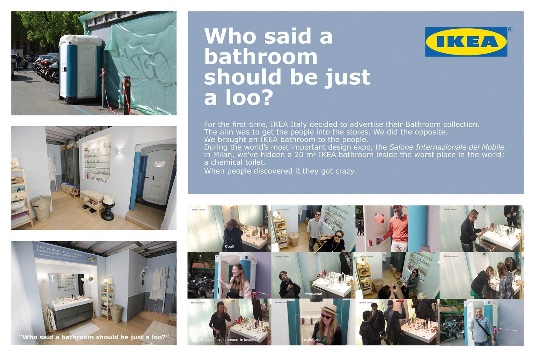 Outdoor Ad Ikea Toilet