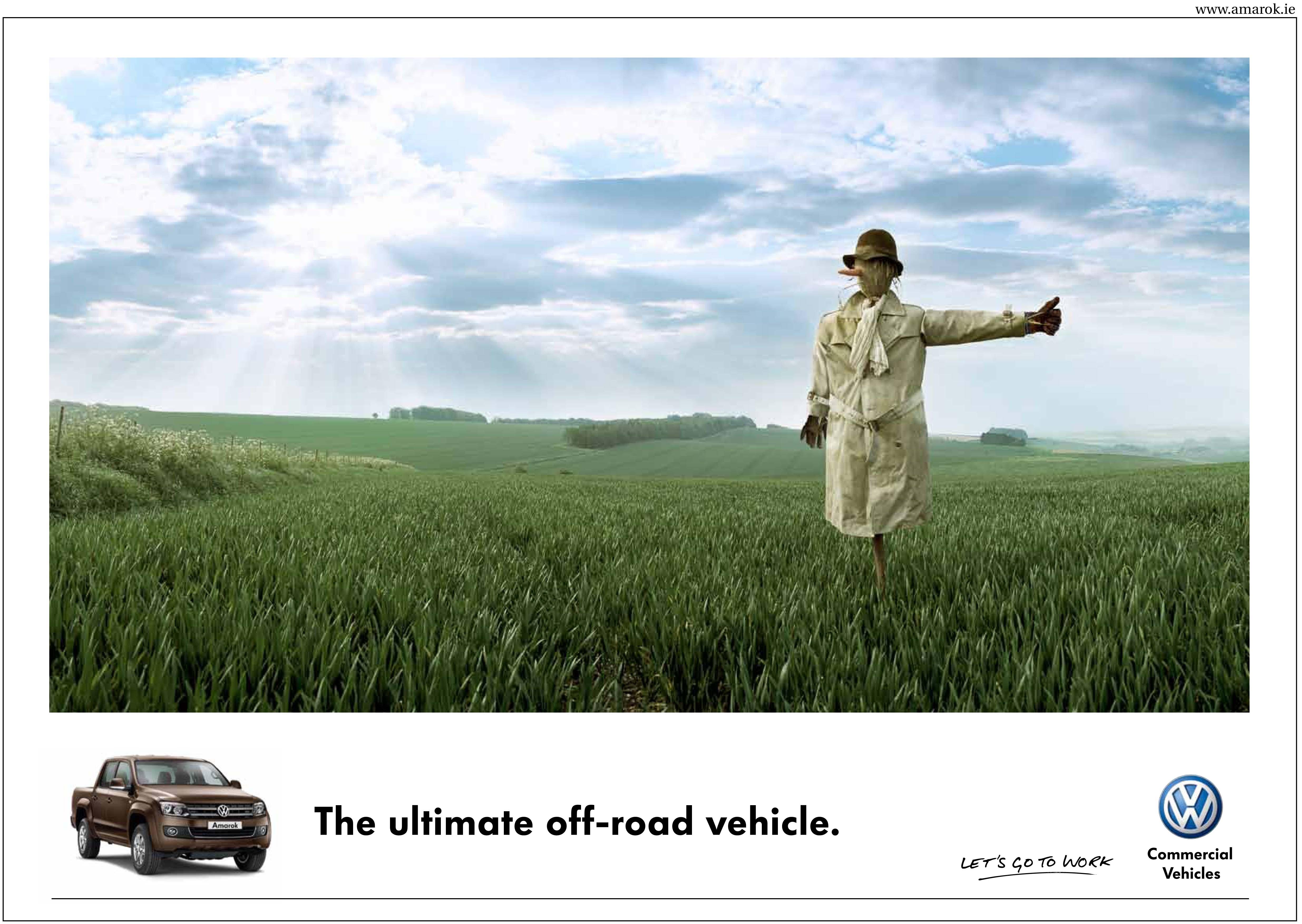 Print Ad Volkswagen Scarecrow