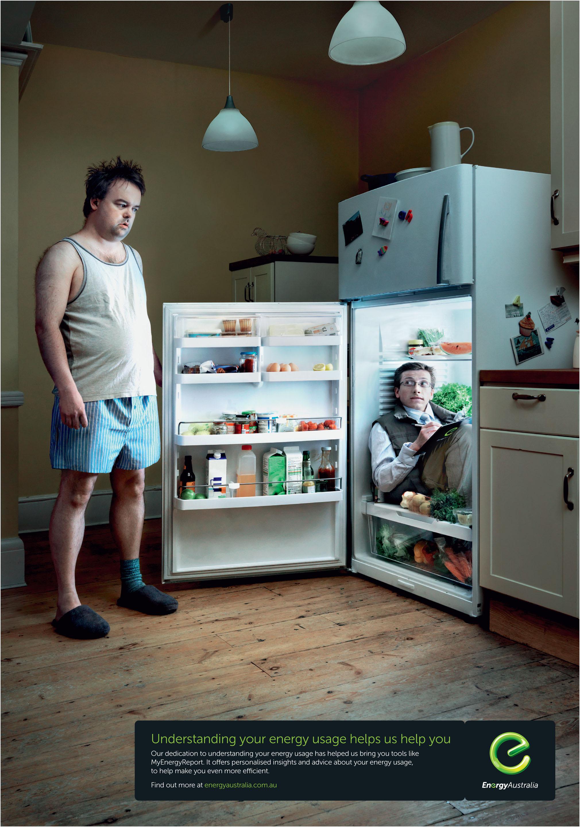 Print ad: EnergyAustralia: Fridge