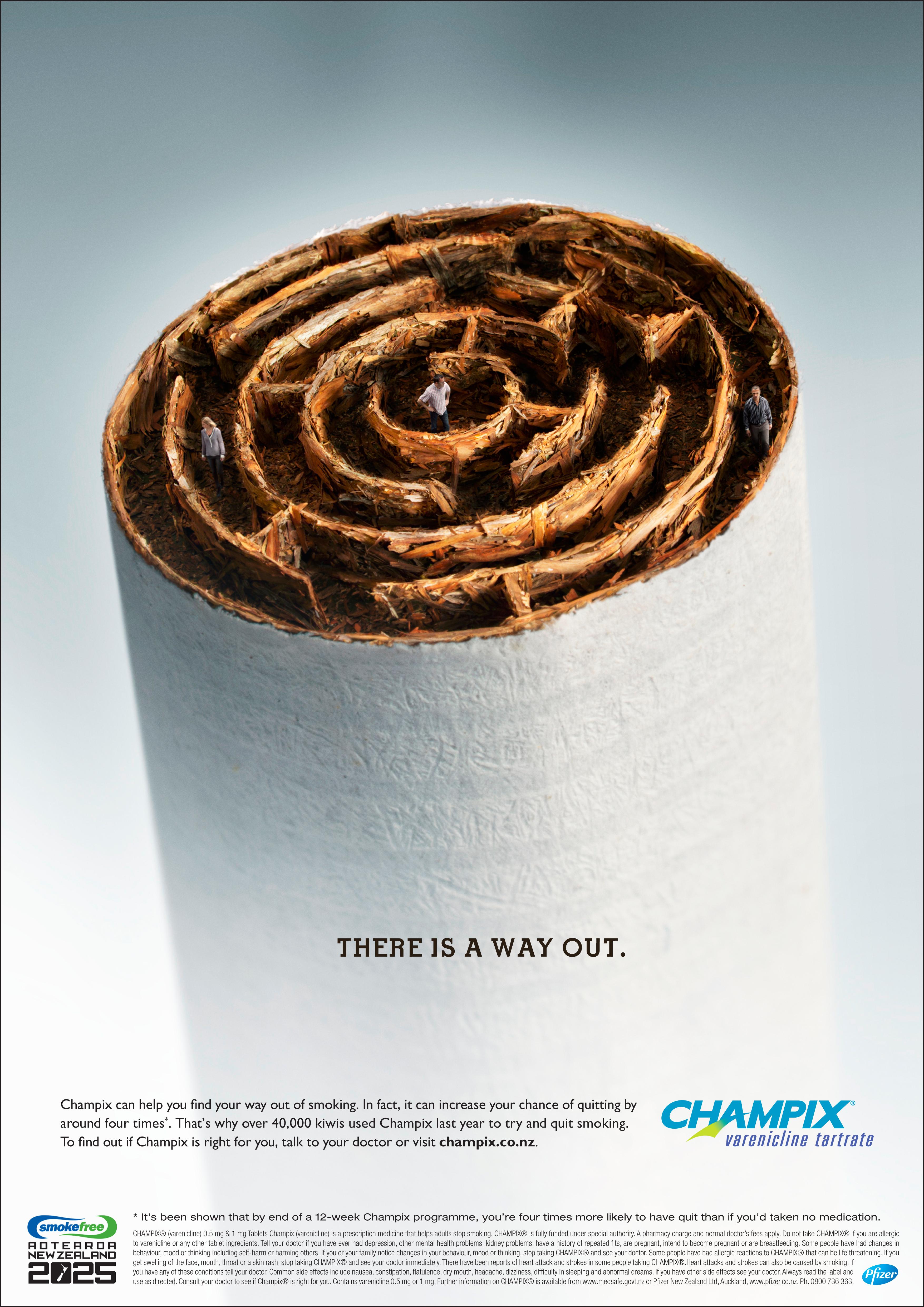 Print Ad Champix Cigi Maze