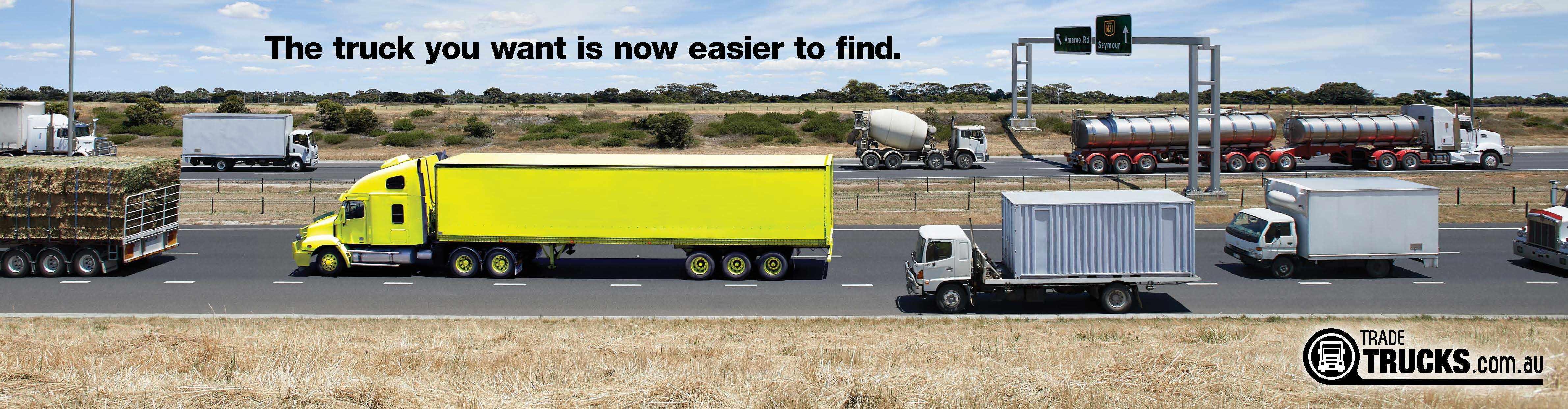 Outdoor ad: Trader Classifieds Online: Fluoro Truck