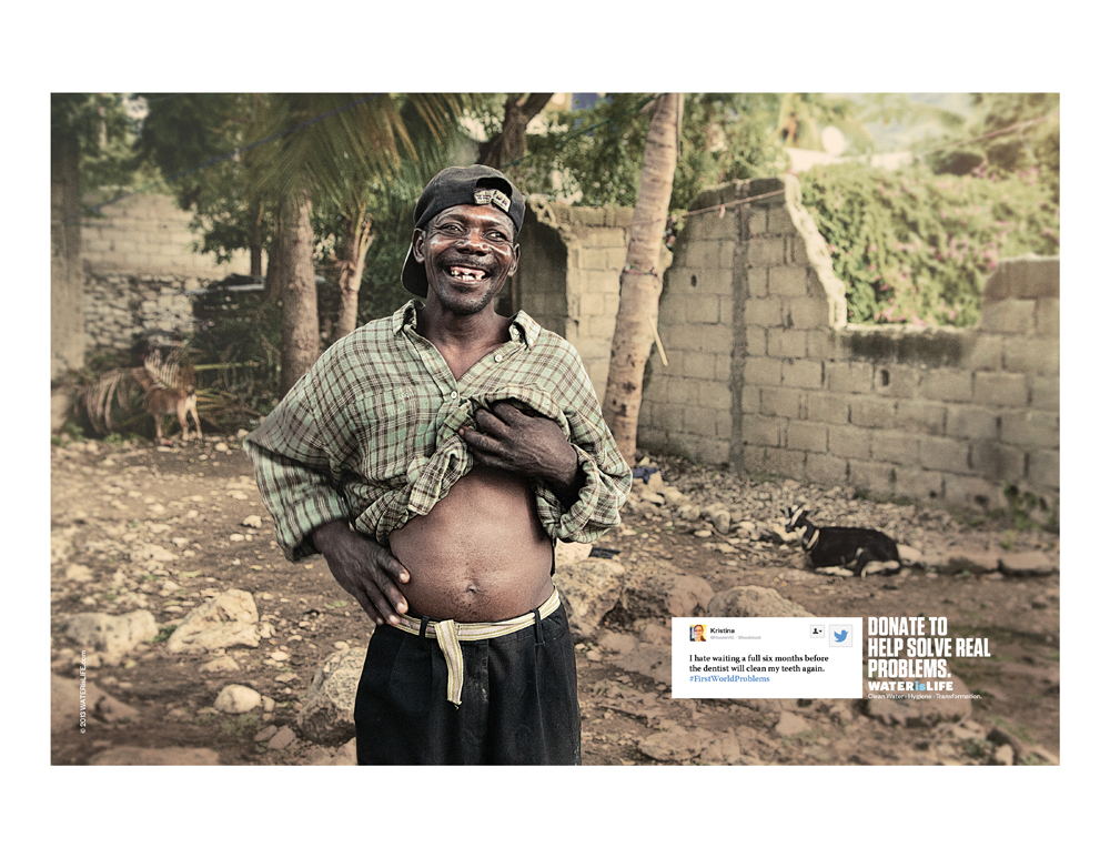 Print ad: Water is Life: Dentist