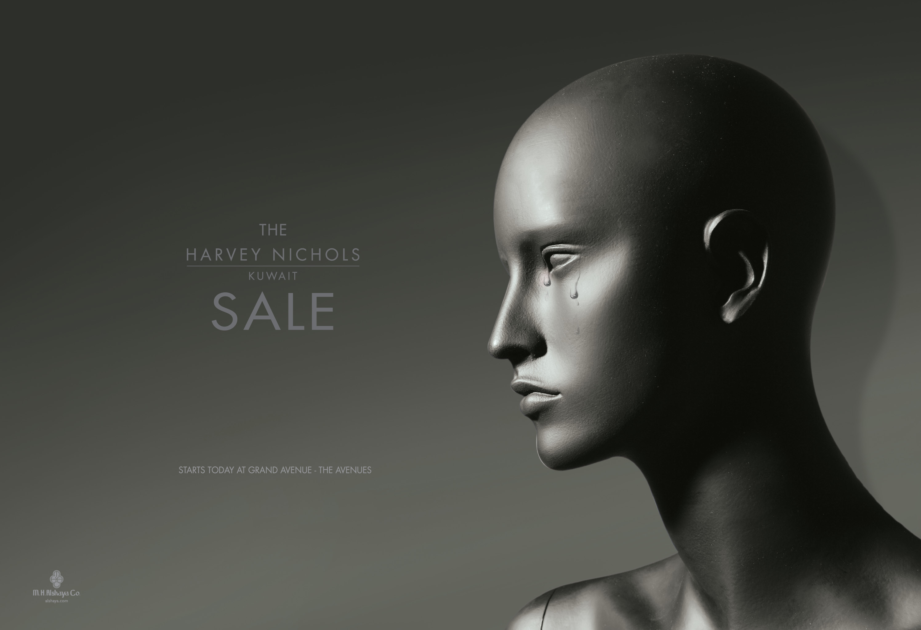 em es abdulla: Harvey Nichols - Sale: Crying mannequin