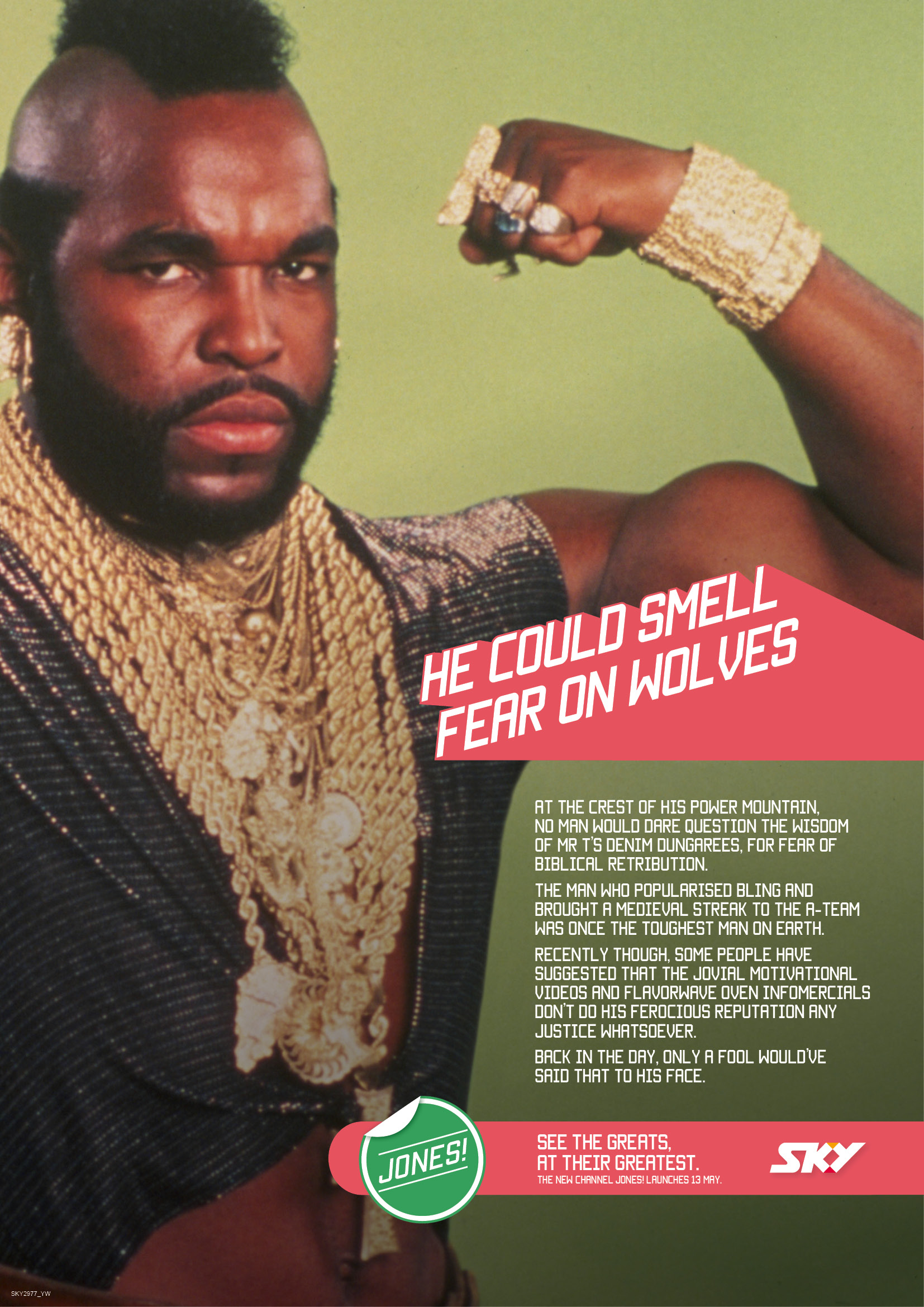 Print Ad Sky Jones Channel Mr T