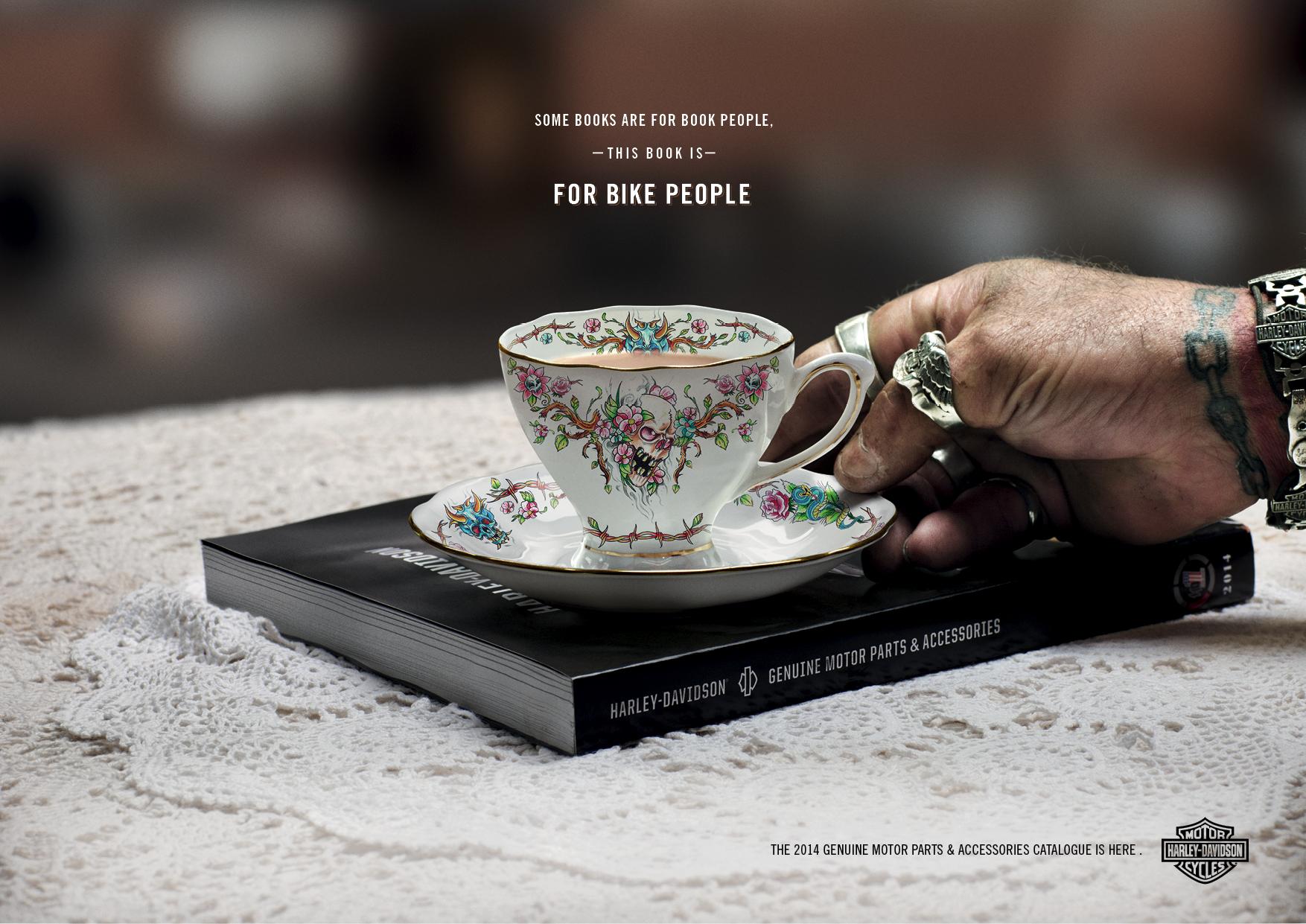 Harley Davidson Advertising: Print Ad: Harley Davidson: Book Club