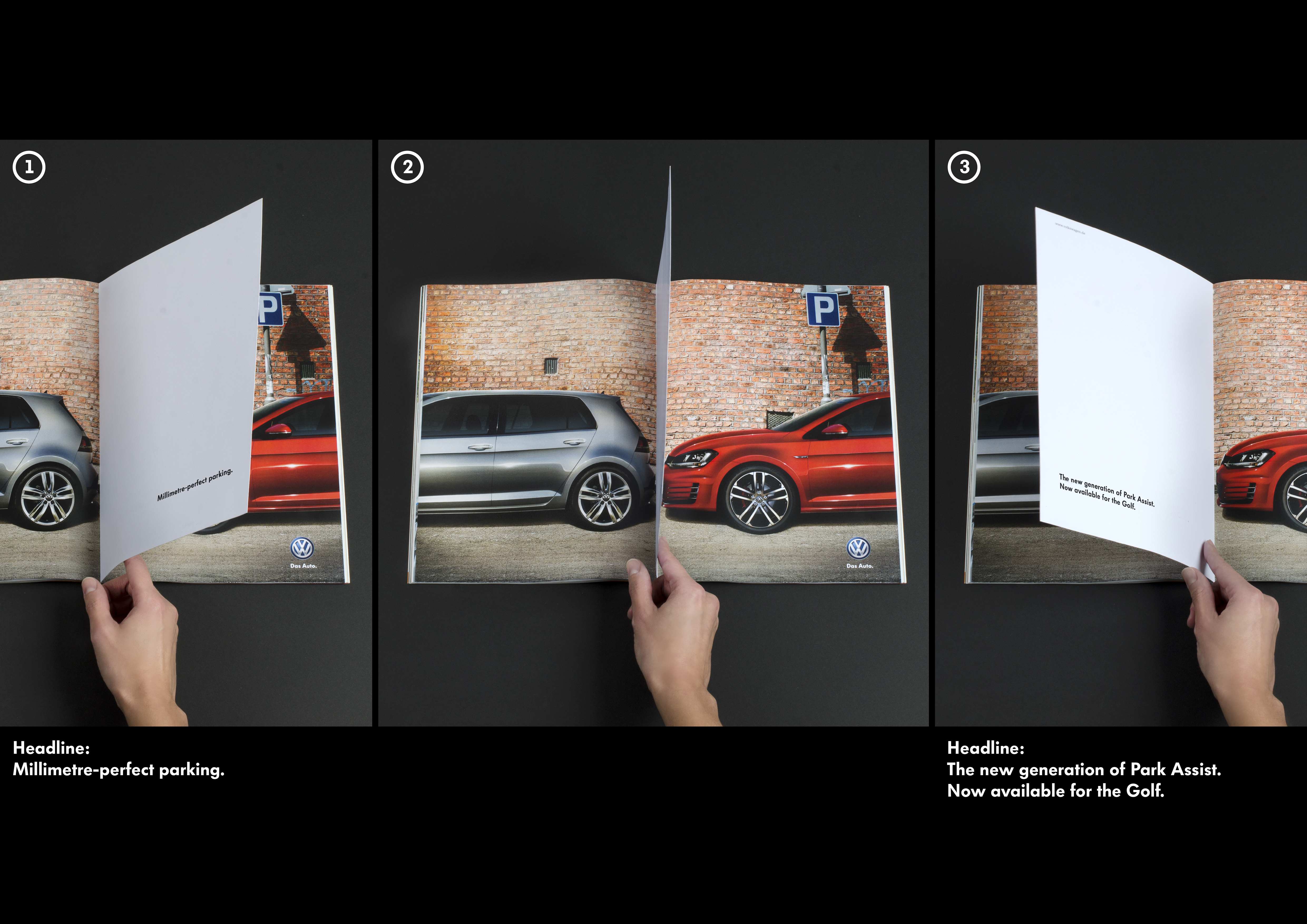 print ad volkswagen ag volkswagen park assist millimetre perfect parking. Black Bedroom Furniture Sets. Home Design Ideas
