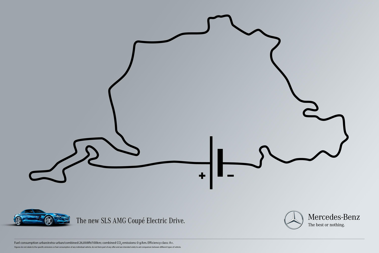 Print ad: Mercedes-Benz AMG: Circuit - Nuerburgring