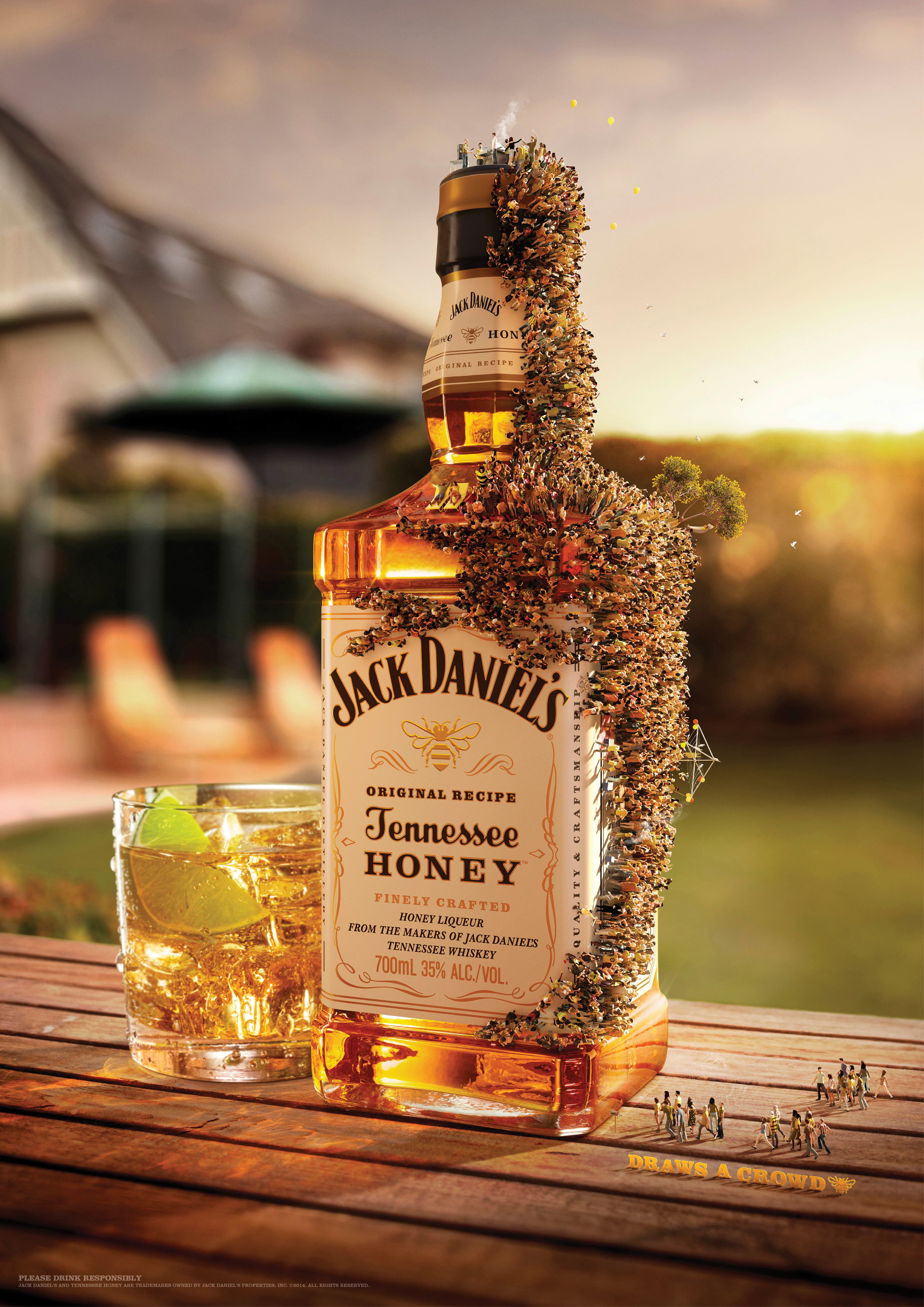 Print ad: Jack Daniel's Tennessee Honey: Backyard