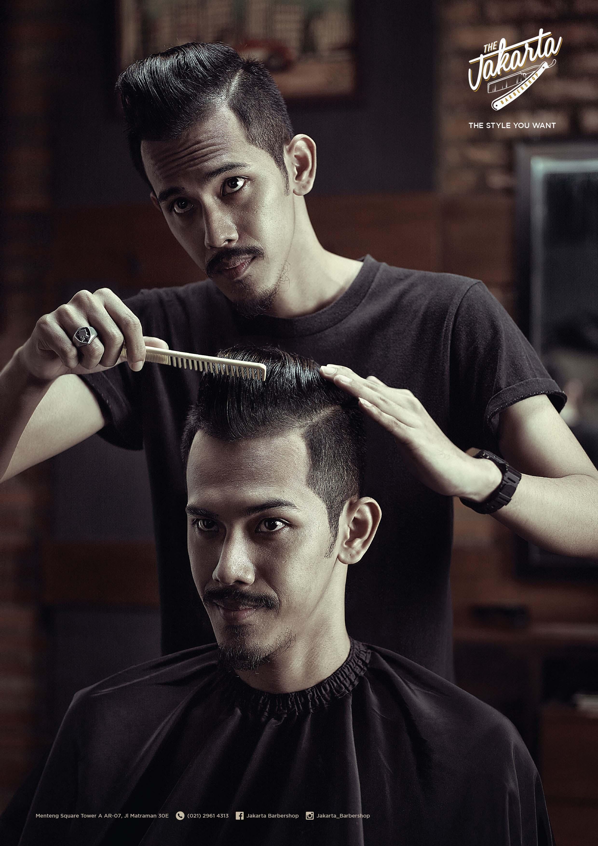 Print Ad Jakarta Barbershop Rockabilly - Hairstyle barbershop indonesia