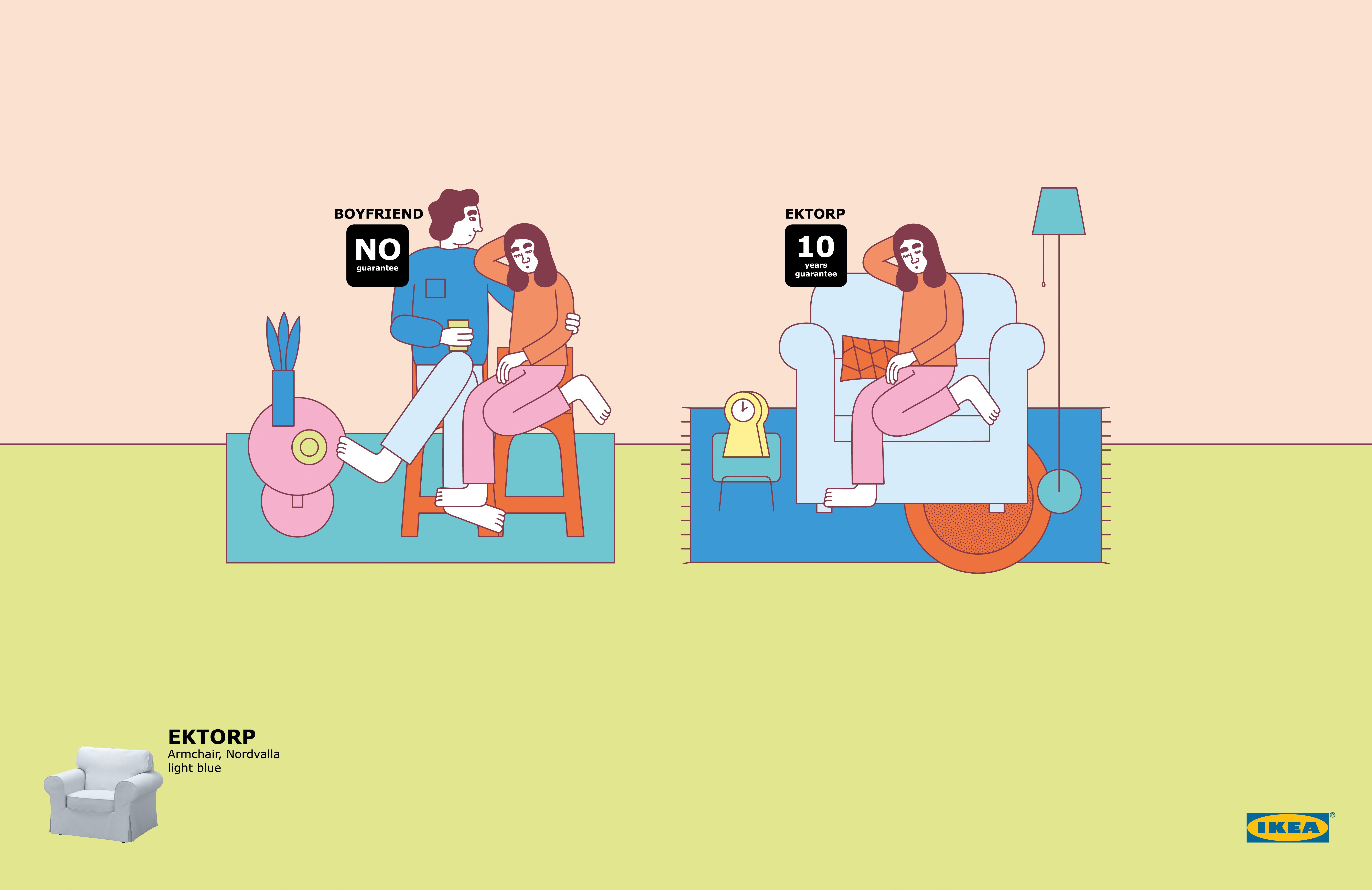Print ad ikea human furniture boyfriend for Ikea commercial 2017