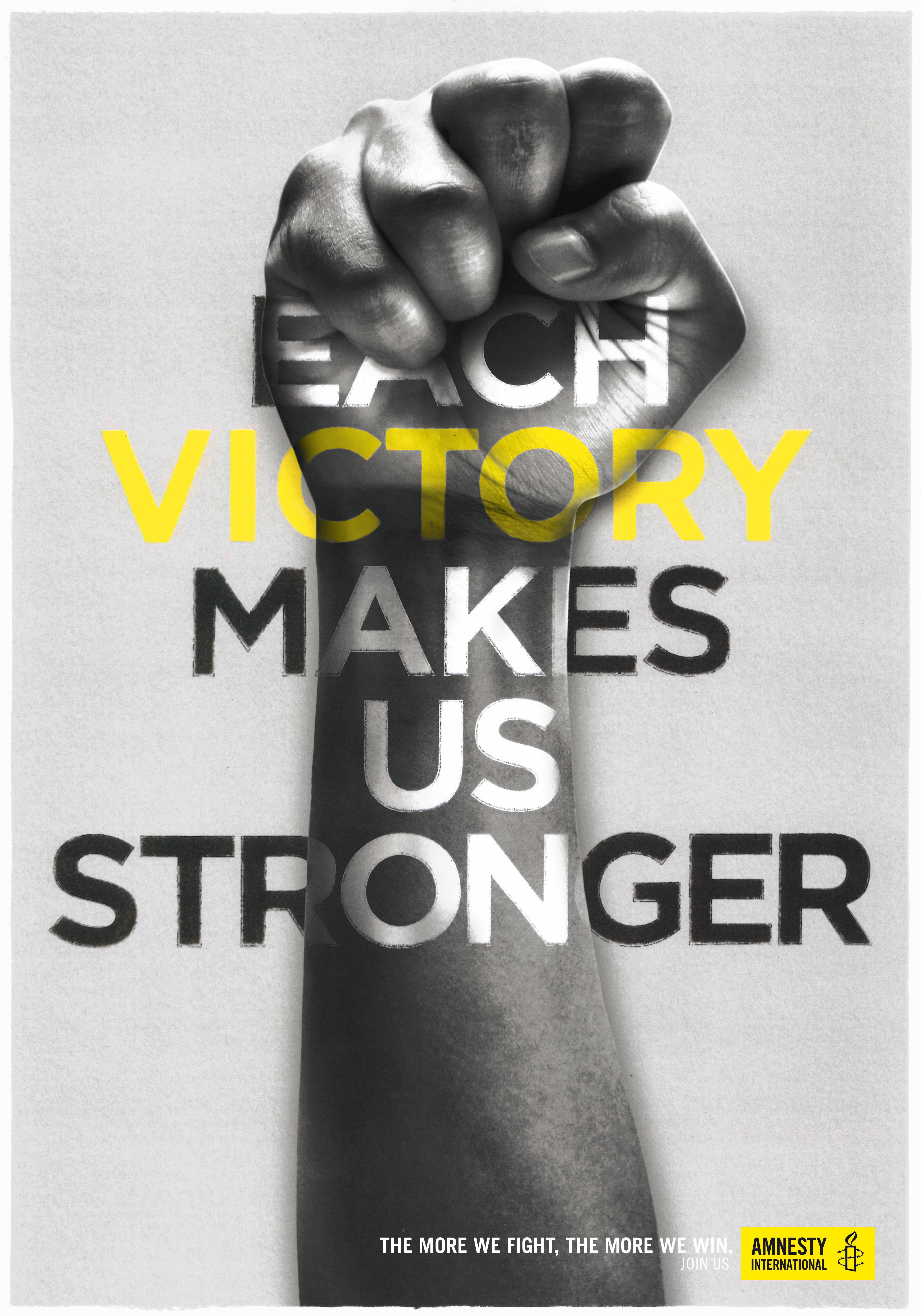 Amnesty International: Each victory makes us stronger