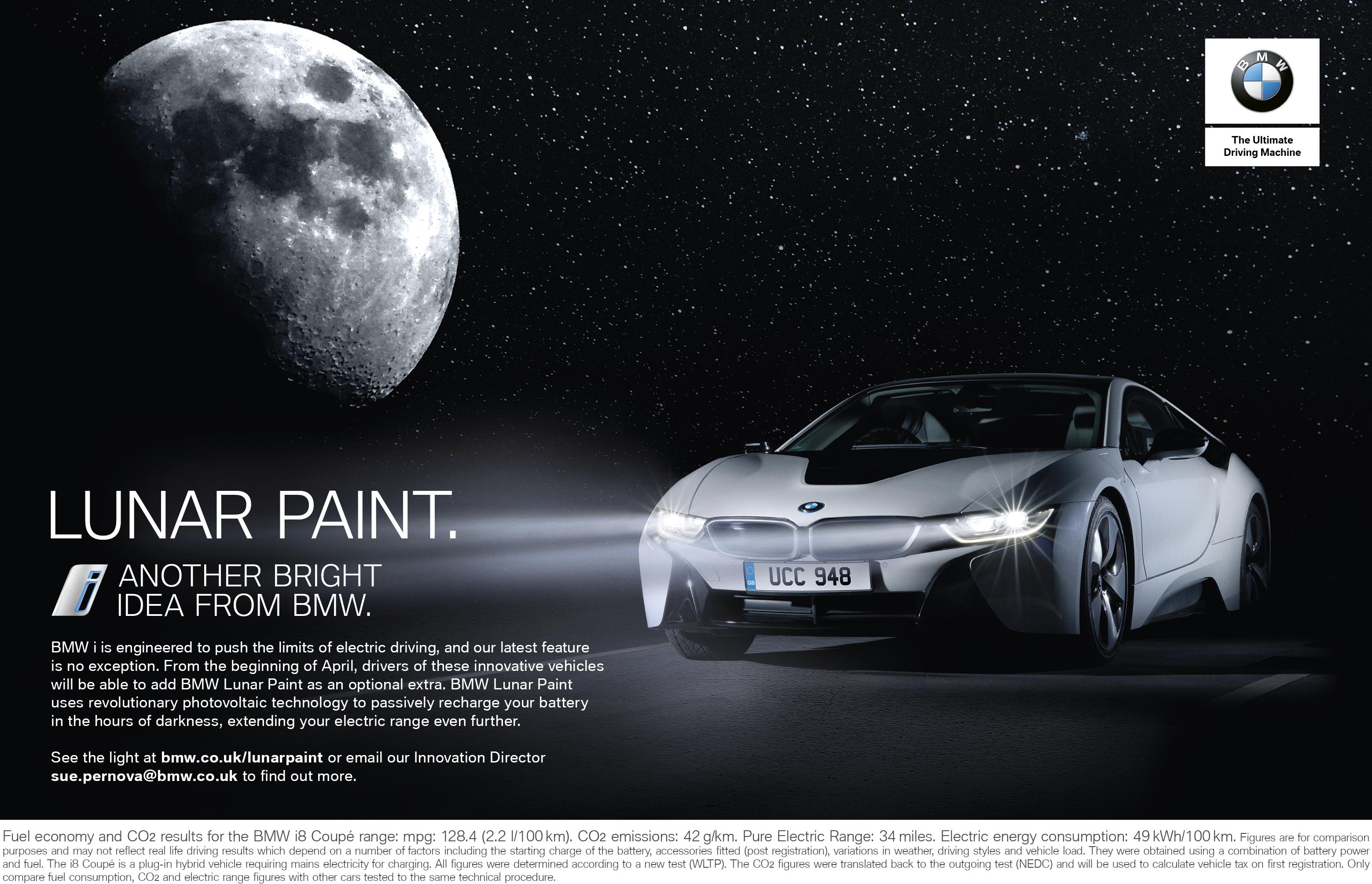 Print Ad Bmw I Lunar Paint