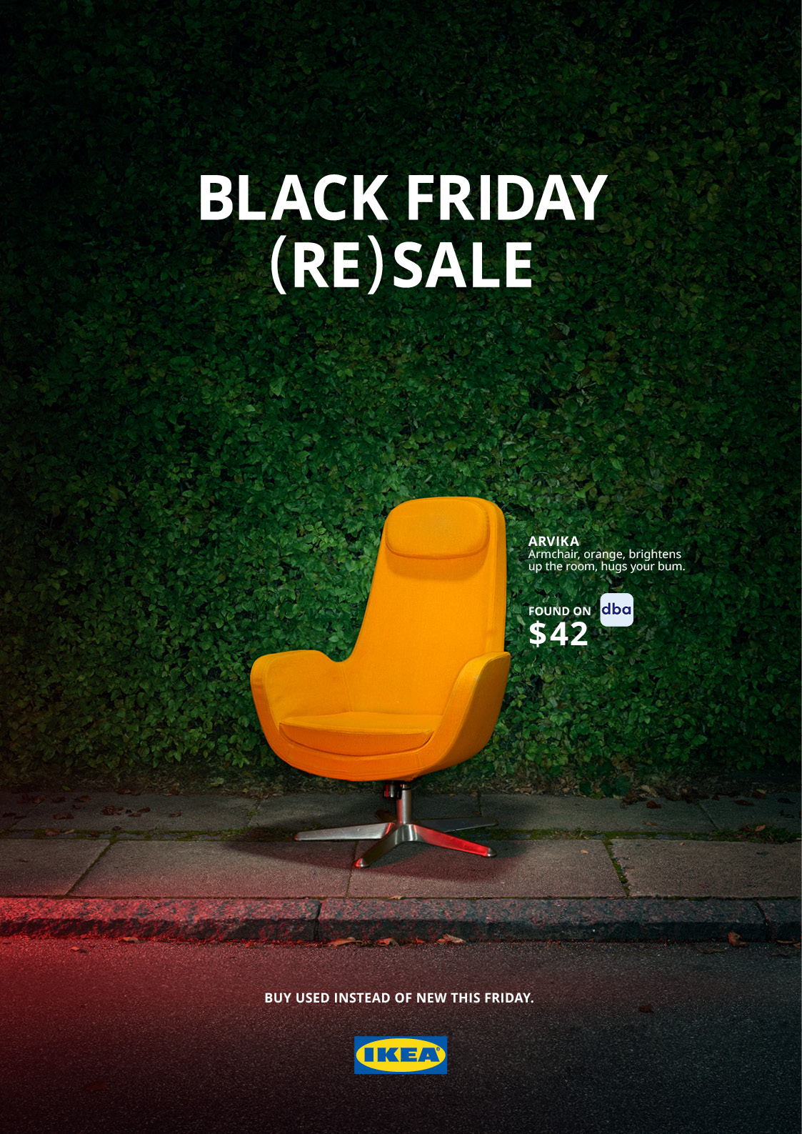 Outdoor Ad Ikea Black Friday Re Sale Arvika