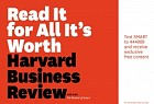 Harvard Business Review: The Revival of Smart - Read it for All It's Worth
