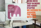 Chirpy Elephant Signage: Desperately Seeking Attention!