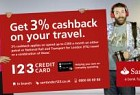 Santander: Get 3% cashback on your travel. 3% cashback applies on spend up to £300 a month on either petrol or National Rail and Transport for London (Tfl) travel or a combination of these. 123 Credit card. Helping you save on everyday spending.