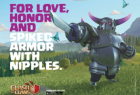 Clash Of Clans: Spiked Armor With Nipples