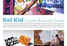 Kol Kid: Kol Kid Crayon Business Cards