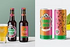 Manga Rosa Beer: Manga Rosa Branding System glass and can beer label