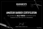 Barba Men's Grooming Boutique: Amateur Barber Certification