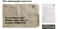 WWF Recycling: Pass it on