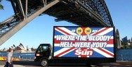 The Sun / Olympics: WHERE THE BLOODY HELL WERE YOU?