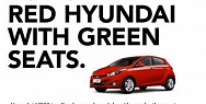 AGO Hyundai: For sale: red Hyundai with green seats