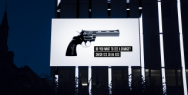Non Violence: The knotted gun billboard